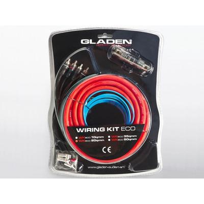 Autóhifi kábel készlet 20 mm2 erősítő bekötéshez Gladen Audio WK 20