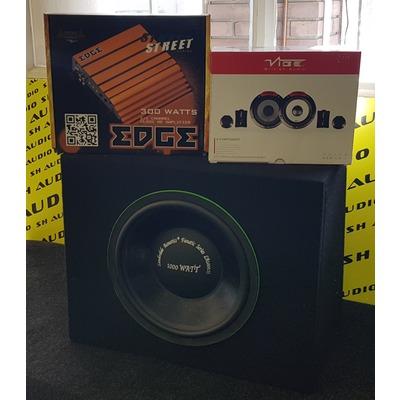 III. Akciós autóhifi csomag: Vibe Audio PULSE6C-V4 autóhifi komponens hangszóró szett+ Edge ED7300-E2 autóhifi 2 csatornás erősítő + Lauderdale Acoustics mélyláda 300/1000Watt