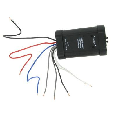 Jelszint átalakító : hangszórószintből RCA jel, 2 csatornás Remote kimenettel
