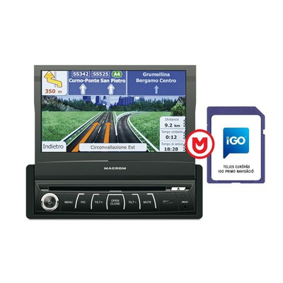 Macrom M-DVD6560 + NAVIGÁCIÓ 1 DIN méretű multimédia + navigációs kártya