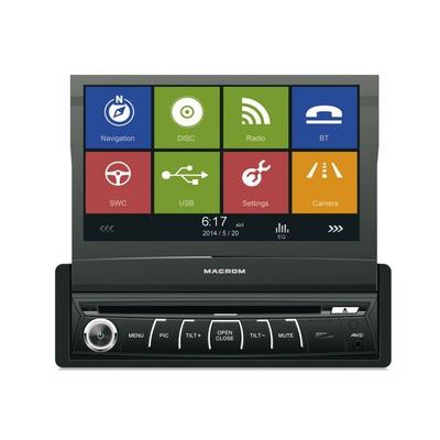 Macrom M-DVD6560 1 DIN méretű multimédia autóhifi autórádió